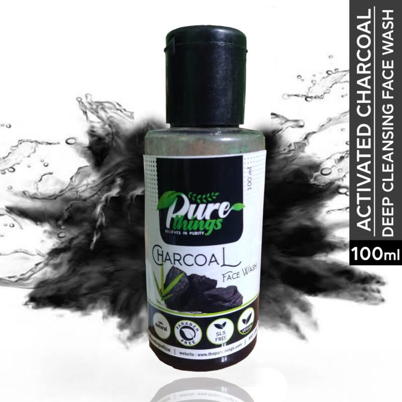 Pure Things Charcoal Face Wash1